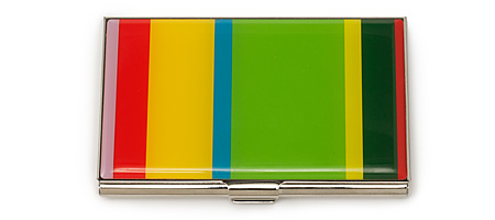 GENE MEYER STRIPED CARD CASE | Bold, Bright, Colorful Stripes, Striped Business Cards Cases By Gene Meyer, Sleek, Slender, Professional And Fun | UncommonGoods