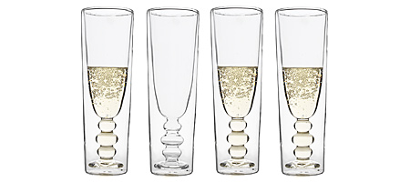 ILLUSION CHAMPAGNE FLUTES - SET OF 4 | Illusions Champagne Flute Glasses, Modern, Clever, Cool, Home Accent, Kitchen Accessory, Barware, Innovative, Unique | UncommonGoods