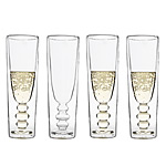 ILLUSION CHAMPAGNE FLUTES - SET OF 4 | Illusions Champagne Flute Glasses, Modern, Clever, Cool, Home Accent, Kitchen Accessory, Barware, Innovative, Unique | UncommonGoods :  glassware champagne glasses illusion glasses innovative