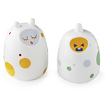 PEPE & FRIENDS SALT AND PEPPER | Porcelain Rif And Raf, Pepe And Friends, Ceramic Salt and Pepper Shakers, Bright, Colorful, White, Modern, Quirky, Fun, Cheerful, Silly, Playful, Kitchen, Utensils | U