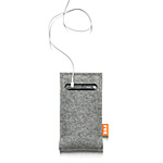 FELT MEDIAPOCKET | Josh Jakus Media Pocket, MediaPockets For iPods, iPhone, MP3 Players, PDAs, Electronics, Protective Pocket, Travel Case, Carry Case, Modern, Industrial Wool, Gray, COntemporary Pers :  mp3 player pouch modern felt