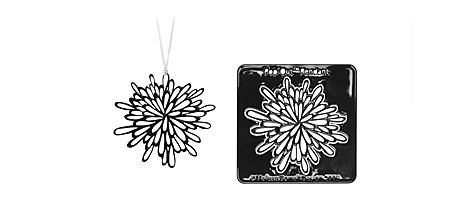 POP-OUT NECKLACE - BLACK STARBURST | Melissa Borrell Pop-Out Pendants, Necklaces, Black Star Burst, Starbursts Hand Drawn Image, Creative, Imaginative, Fun, Cool, Modern Jewelry | UncommonGoods