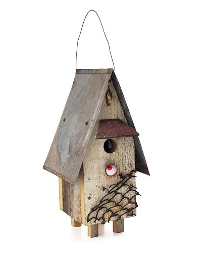 RECLAIMED WOOD FISHING SHACK BIRDHOUSE