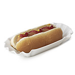 PORCELAIN HOT DOG WRAPPER | Porcelain Hot Dogs Wrapper, Ballpark Franks Paper Wrapper, Folded Hot Dog's Wrapper From Ball Game, County Fair, Street Vendors, Life-Size Replica, Sculpture, Pop Art, Whit