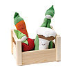 Organic Cotton Teethers Veggie Crate