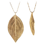 LEAF NECKLACE | Gold Leaf Necklace, Olive Leaf Necklace, Large Vein Leaf Necklace, Organic Jewelry | UncommonGoods from uncommongoods.com