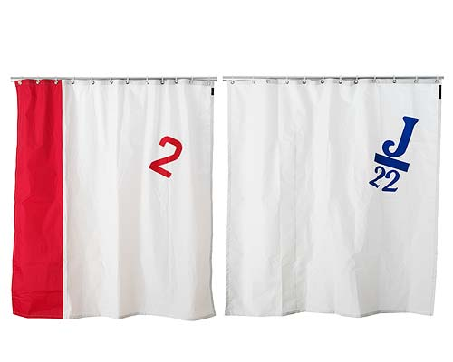SPINNAKER SAIL SHOWER CURTAIN