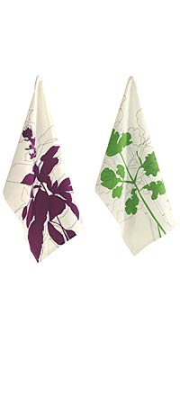 BASIL AND PARSLEY DISHTOWELS | Herb Dishtowel | UncommonGoods :  kitchen herb houseware uncommongoods