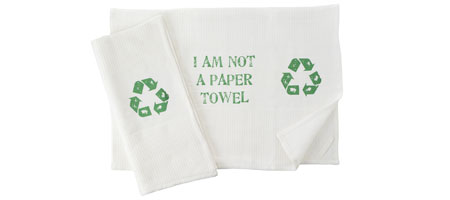 I AM NOT A PAPER TOWEL KITCHEN TOWEL - SET OF 2 | Recycled, Paper Towel, Enviornmental, Organic Cotton | UncommonGoods