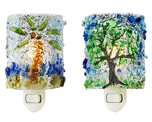 RECYCLED GLASS NIGHT LIGHTS