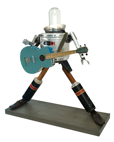 ROCK STAR ROBOT - ILLUMINATED SCULPTURE
