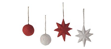 Elephant poo ornaments