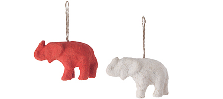 Elephant poo ornaments