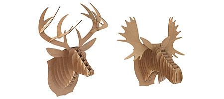CARDBOARD ANIMAL HEADS