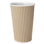 CORRUGATED CARDBOARD CERAMIC CUP