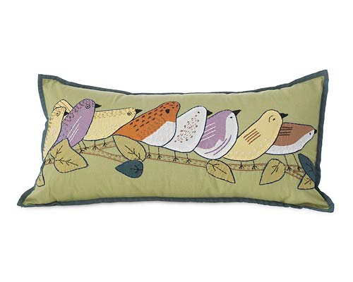 EIGHT BIRDS ON A LIMB PILLOW
