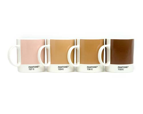 Pantone Mugs 2011 Pantone Tea Mugs Set of Four