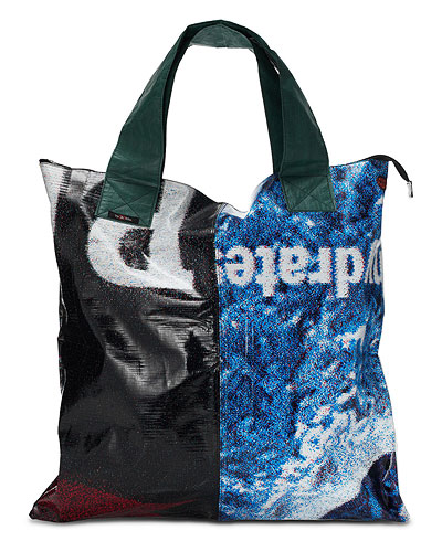 RECYCLED BILLBOARD BIGGIE TOTE BAG