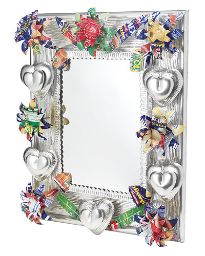 LARGE RECYCLED TIN MIRROR