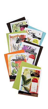 YUMMY PLANTABLE CARDS | Herb Greeting Cards, Plantable Paper, Grow Fresh Herbs, Dill, Chive, Parsley, Basil, Sage, Mint, Recipe Card | UncommonGoods from uncommongoods.com