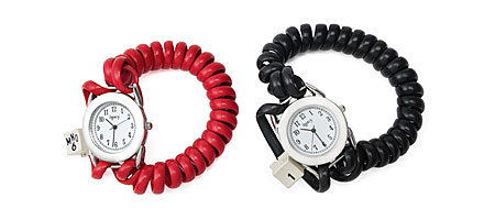 TELEPHONE CORD WATCH | Telephones, Vintage, Phones, Cords, Rubber, Watches | UncommonGoods from uncommongoods.com