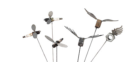 GARDEN BUG PLUGS | Spark Plug, Flies, Bugs, Potted Plants, Yard, Accessories | UncommonGoods :  yard bugs flies accessories