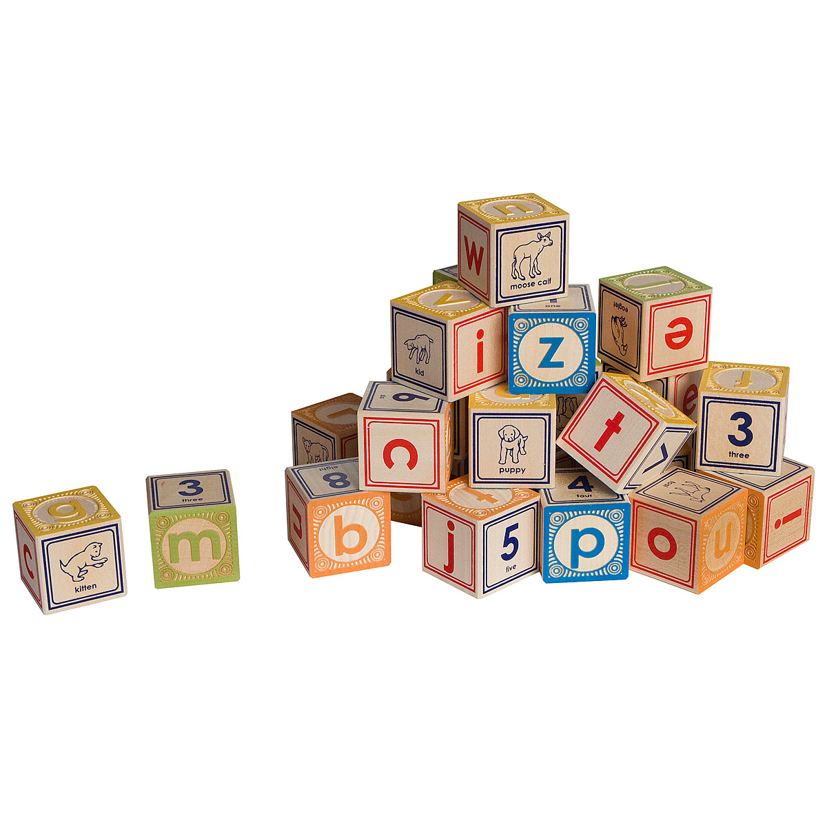 LOWERCASE ALPHABET BLOCKS | Classic Embossed Wooden ABC Blocks ...