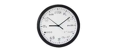 GEEK CLOCK | Math, HTML, Code, Geeky, Smart, Clocks, Time | UncommonGoods :  clocks math smart home goods