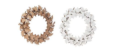 Recycled cardboard wreaths
