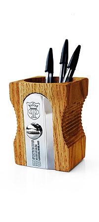 GIANT SHARPENER PENCIL CUP | Giants, Pencils, Sharpeners, Wooden, Cups, Desk, Holder, Pens | UncommonGoods