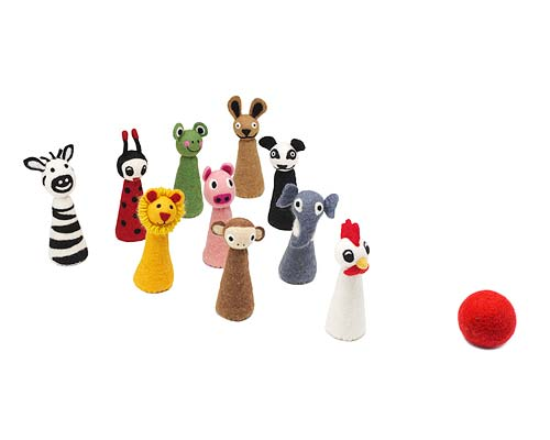 ANIMAL BOWLING PINS