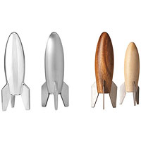 rocket salt and pepper shakers