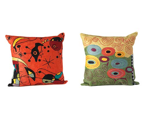 ARTIST PILLOWS: MIRO & KLIMT
