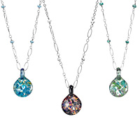 Glass Birthstone Necklace