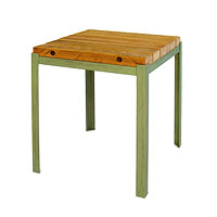 Reclaimed Wood Outdoor End Table