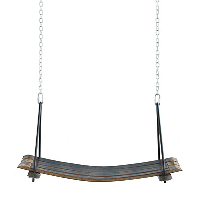 RETIRED WINE BARREL SWING