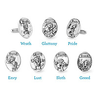 The Seven Deadly Sins Cufflinks