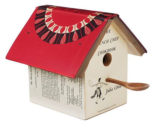 JULIA CHILD COOKBOOK BIRDHOUSE