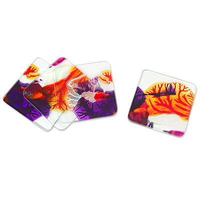 RORSCHACH COASTERS: PINK & ORANGE