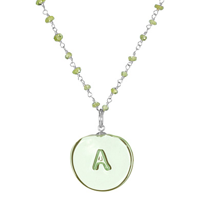 GLASS INITIAL NECKLACE