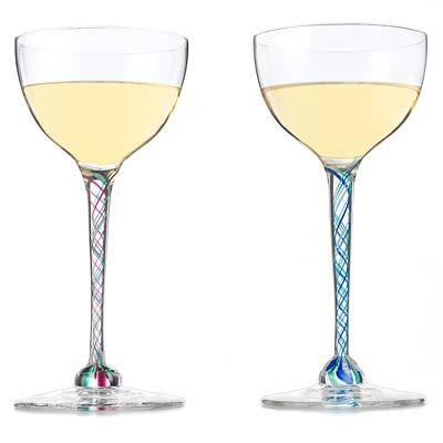 RIBBONED WINE GLASSES