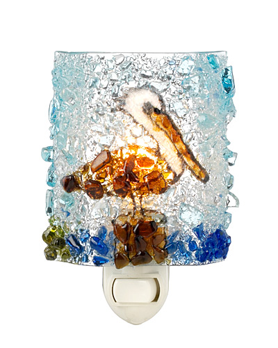 RECYCLED PELICAN NIGHT LIGHT