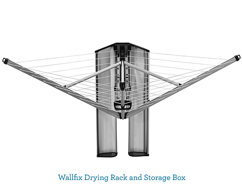 WALLFIX DRYING RACK & STORAGE BOX