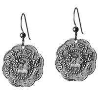 tibetan lion earrings