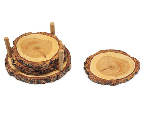 TREE RING COASTERS
