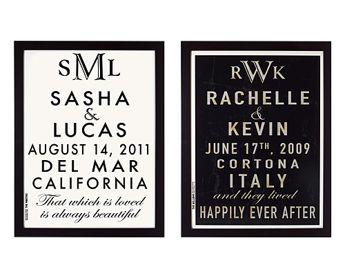 CUSTOMIZABLE WEDDING ANNOUNCEMENT ART
