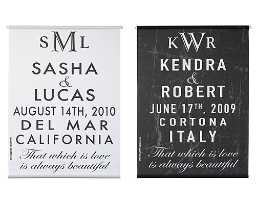 CUSTOMIZABLE WEDDING ANNOUNCEMENT SCROLL
