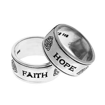 FAITH/HOPE/LOVE SPINNING RING