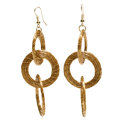 GOLDEN GRASS CHAIN EARRINGS