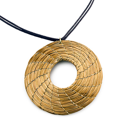 GOLDEN GRASS ROUND NECKLACE